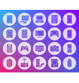 device shape carved flat icons set vector image vector image
