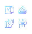 domestic textile gradient linear icons set vector image vector image