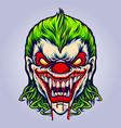 evil angry joker blood vampire vector image vector image