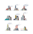 factory industrial buildings smoke modern plants vector image vector image