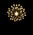 festive golden bright fireworks salute flash on a vector image vector image