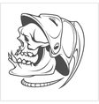 Firefighter - skull and helmet vector image vector image