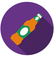 Flat design beer icon with long shadow isolated