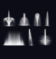 fountains or geysers realistic water jets vector image vector image