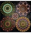 Geometric mandala in pastel colors vector image vector image