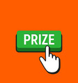 hand mouse cursor clicks the prize button vector image vector image