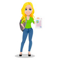 happy student back to school vector image vector image