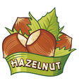hazelnut label vector image