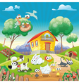 Home with Animals vector image vector image