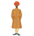 indian man wearing traditional clothes vector image