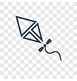 kite concept linear icon isolated on transparent vector image