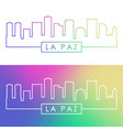 la paz skyline colorful linear style editable vector image vector image
