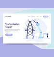 landing page template of transmission tower vector image