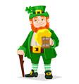 leprechaun happy saint patricks day vector image vector image