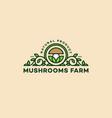 mushrooms logo vector image vector image