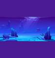 ocean or sea underwater background empty bottom vector image