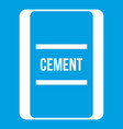 one bag of cement icon white vector image vector image