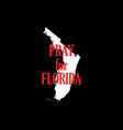 pray for florida hurricane irma natural vector image vector image