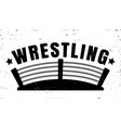 retro emblem for wrestling vector image
