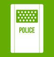 riot shield icon green vector image vector image