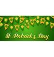 Saint Patricks Day seamless pattern Garland flags vector image vector image