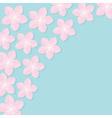 Sakura flowers Japan blooming cherry blossom set vector image vector image