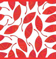 seamless pattern of red striped leaves vector image vector image