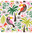 Seamless pattern with a exotic birds vector image
