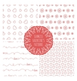 set four seamless valentines patterns vector image vector image
