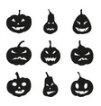 set halloween scary pumpkins vector image vector image