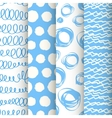 Set of 4 blue and white doodle seamless patterns vector image vector image