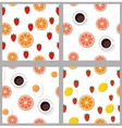 Set seamless pattern in flat style vector image vector image