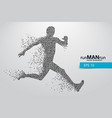 silhouette a running man from triangle vector image