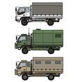 Small terrain trucks vector image vector image