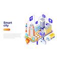 smart city modern flat design isometric concept vector image