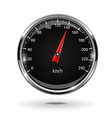 speedometer round black gage with metal frame vector image vector image