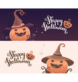 template with halloween of decorative orange vector image vector image