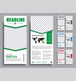 templates 2 pages in 4 color versions with a vector image vector image