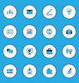 trade colorful icons set collection of analytics vector image vector image