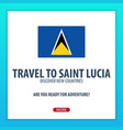travel to saint lucia discover and explore new vector image vector image