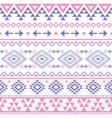 tribal geometric aztec seamless pattern vector image vector image