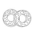 two glazed donuts with sprinkles icon image vector image vector image