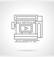 video ads in storefront flat line icon vector image vector image