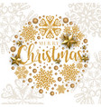 white golden merry christmas banner background vector image vector image