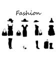 Beautiful fashion dress black white vector image