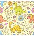 cute dinosaurs vector image