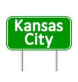Kansas City green road sign vector image