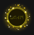 Magic glowing round frame futuristic background vector image