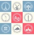 Set Badges of Travel vector image