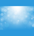 abstract bokeh blue color background vector image vector image